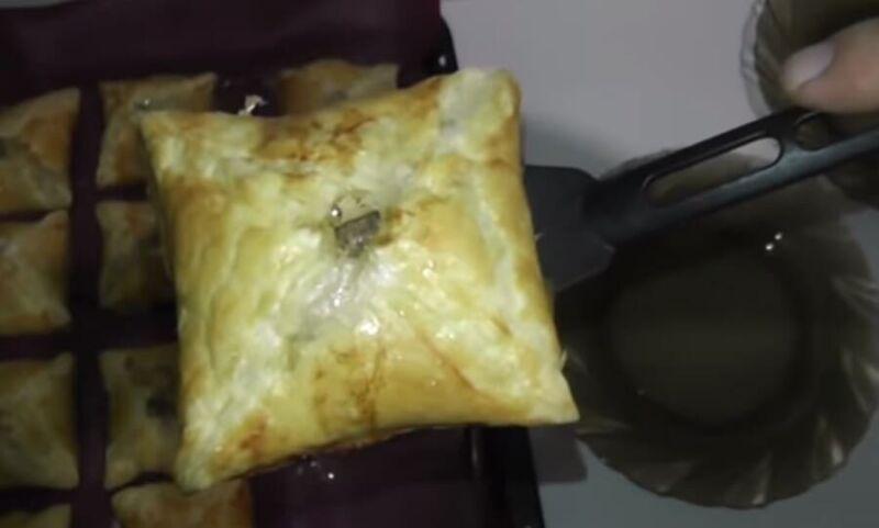 ✔️Слойки с мясом из слоеного теста рецепт с фото